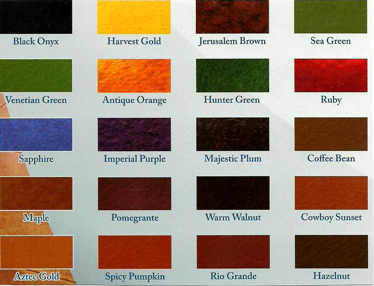 Concrete Color Charts